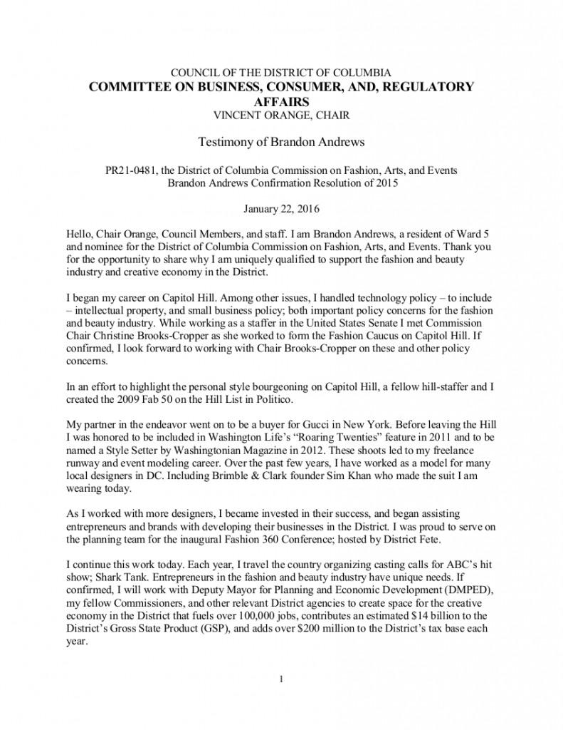 CFAE Testimony - Brandon Andrews 12216
